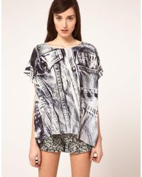 Emma Cook - Kaftan Top In Denim Print - Lyst