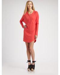 Joseph Moroccan Linen Jersey Tunic red - Lyst