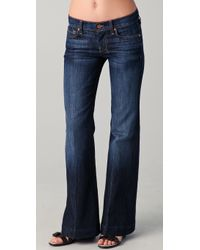 7 For All Mankind Dojo Petite Flare Jeans - Lyst