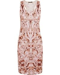 Alexander McQueen Mother Of Pearl Tank Dress - Lyst