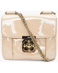 Chloé Beige Elsie Evening Bag - Lyst
