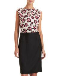 Barneys New York Combo Top/skirt Dress - Lyst