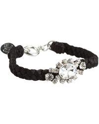 Juicy Couture | Macrame & Rhinestone Bracelet | Lyst