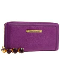 Juicy Couture - Zip Wallet with Hanging Stones - Lyst
