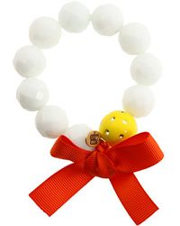 Juicy Couture | Brentwood Prepster Beaded Stretch Ivory Bracelet | Lyst