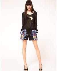 Markus Lupfer Hawaiian Print Shorts - Lyst