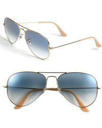 Ray-Ban 'Original Aviator' 58Mm Sunglasses blue - Lyst