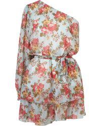 Topshop Asymmetric Floral Dress By Rare** - Lyst