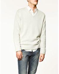 Zara Thick Knit Sweater - Lyst
