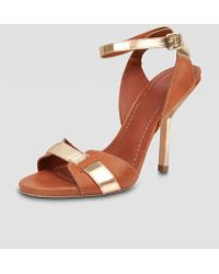 Elizabeth And James Two-tone Sandal - Lyst