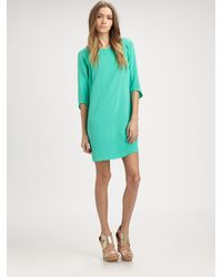 Tibi Silk Shift Dress - Lyst
