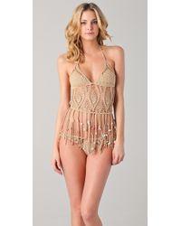 Indah - Camila Crochet Bikini Top - Lyst