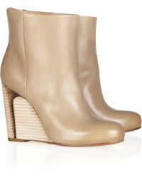 Maison Margiela Leather Ankle Boots - Lyst