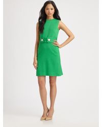 Milly Kristen Button Shift Dress - Lyst