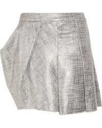 Todd Lynn Yahma Metallic Cotton-bouclé Mini Skirt - Lyst