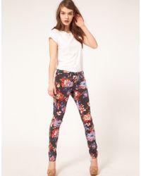 Asos Asos Skinny Jeans in Floral Print - Lyst