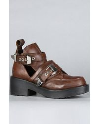 Jeffrey Campbell The Coltrane Boot in Distressed Brown - Lyst