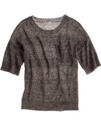 Madewell Metallic Meshwork Sweater-top - Lyst