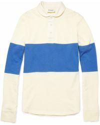 YMC Striped Cotton Rugby Shirt - Lyst