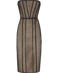 Hakaan Ewe Mesh and Stretch-satin Dress - Lyst