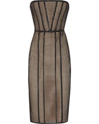 Hakaan Ewe Mesh and Stretch-satin Dress black - Lyst