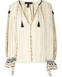 Isabel Marant Jasia Sequin-embellished Cotton Smock Top - Lyst