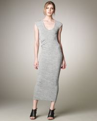T By Alexander Wang Marled Draped Back Muscle Dress - Lyst