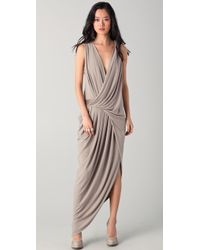 Doo. Ri - Sleeveless Gown with Leather Trim - Lyst