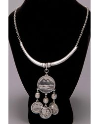 Low Luv by Erin Wasson 5 Coin Necklace - White Gold - Lyst
