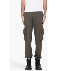 Y-3 Olive Cargo Track Pants - Lyst