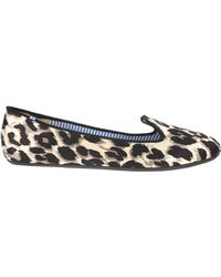 Charles Philip Shanghai Printed Canvas Cotton Slippers - Lyst