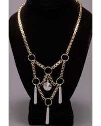 Low Luv by Erin Wasson Box Chain Necklace - Yellow Gold - Lyst