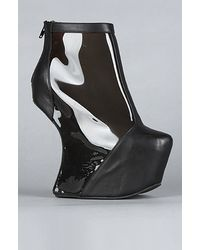 Jeffrey Campbell The Moon Walk Shoe in Black Leather and Charcoal - Lyst