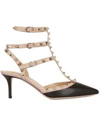 Valentino 65mm Rock Studs Triple Buckled Sandals - Lyst