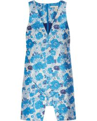Christopher Kane Silk-blend Floral Brocade Dress - Lyst