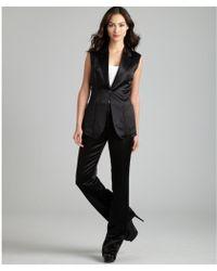 Hermès - Black Silk Blend Sleeveless Pant Suit - Lyst