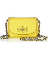 Mulberry Mini Chain-strap Patent-leather Shoulder Bag - Lyst