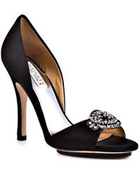Badgley Mischka Gia - Black Satin - Lyst