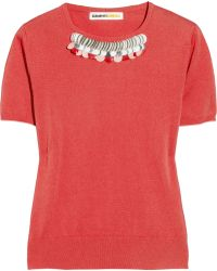 Clements Ribeiro - Embellished Fine-knit Cashmere Sweater - Lyst