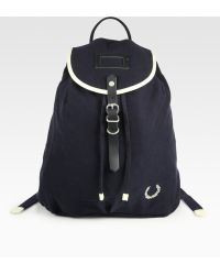 Fred Perry Vintage Twill Backpack - Lyst