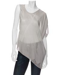 Helmut Lang Exclusive Asymmetrical Sleeve Blouse - Lyst
