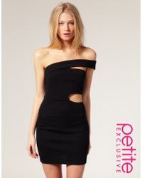 ASOS Collection Asos Petite Exclusive Asymmetric Bodycon Dress with Cut Out Detail - Lyst