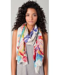 We Are Owls - Flora Amp Fauna Cashmere and Silk Blend Scarf - Lyst