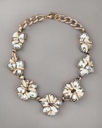 Fragments Crystal Bib Necklace - Lyst