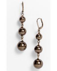 Givenchy Kalahari Pearl Linear Drop Earrings - Lyst