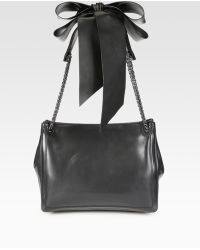 Christian Louboutin Artemis Leather Bow & Chain Tote Bag - Lyst