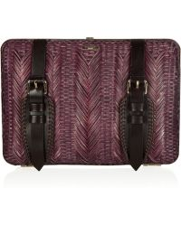 Burberry Prorsum - Bamboo and Leather Clutch - Lyst