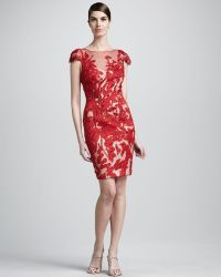 Mandalay - Cap-sleeve Applique Dress - Lyst