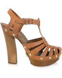 Marc Jacobs Leather Sandal Clogs - Lyst