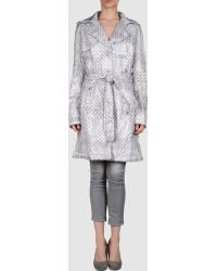 John Galliano Gray Fulllength Jacket - Lyst